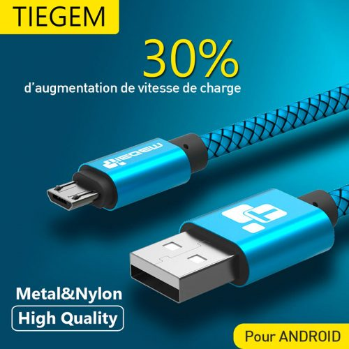 Micro-USB-Cable-2A-1m-charge-rapide-Nylon-USB-Sync-Data-Mobile-Phone-Android-Adapter-Chargeur