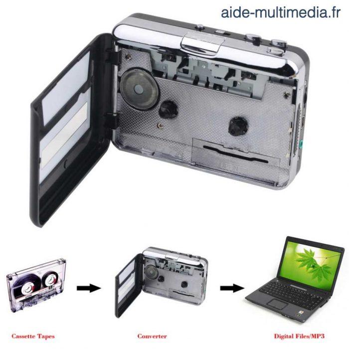 Convertisseur de vos anciennes cassettes en MP3 - Numériser vos cassettes