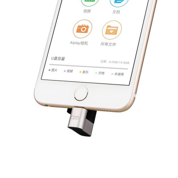 cle-usb-iphone-ipad-ipod-noir-branche