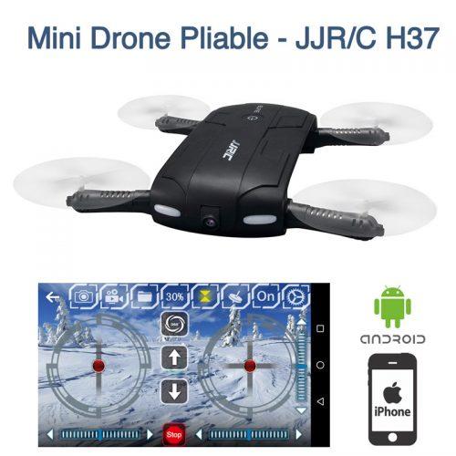 Mini Drone pliable Elfie JJRC H37 Caméra HD